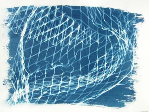 Drifting Nets - Cyanotype