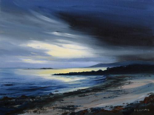Evening Tide Carrick, 18 x 24 cm 2016