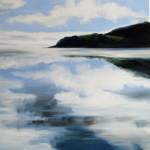 Clouds Reflections, Sandyhills to Portling, 40 x 40 cm, 2016