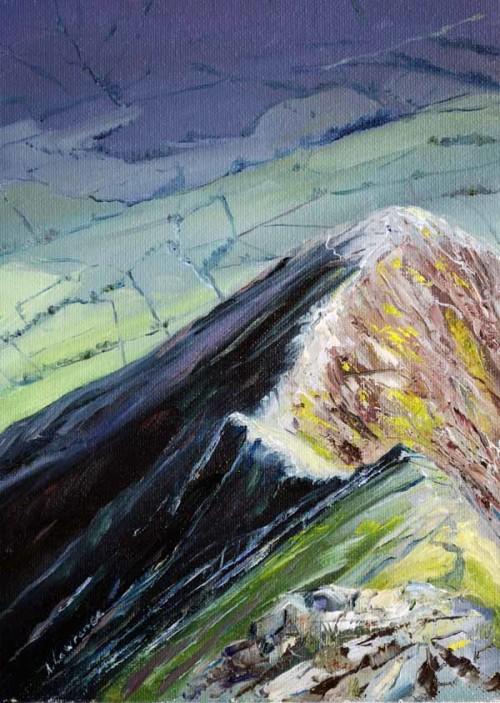 Hall's Fell Ridge, 18 x 13 cm, 2016