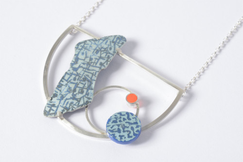 Found: Blue and Neon Necklace