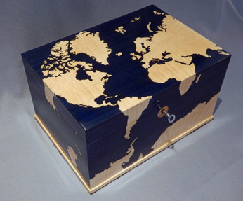 World Map Gentleman's Box