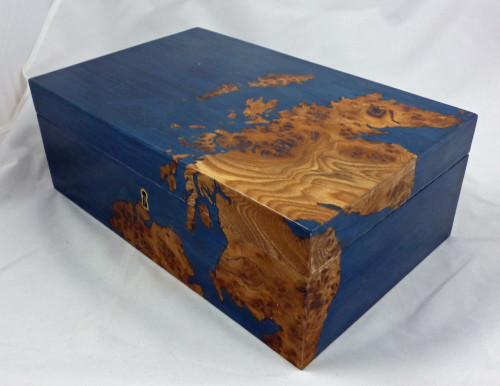Scottish Map Jewellery Box