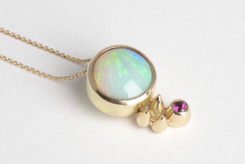 Gold Opal Spikes and Honey Pots Pendant