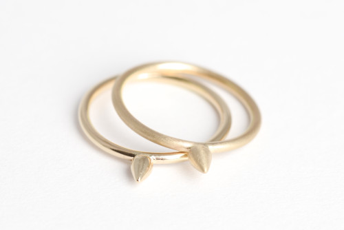 Gold Spike Rings