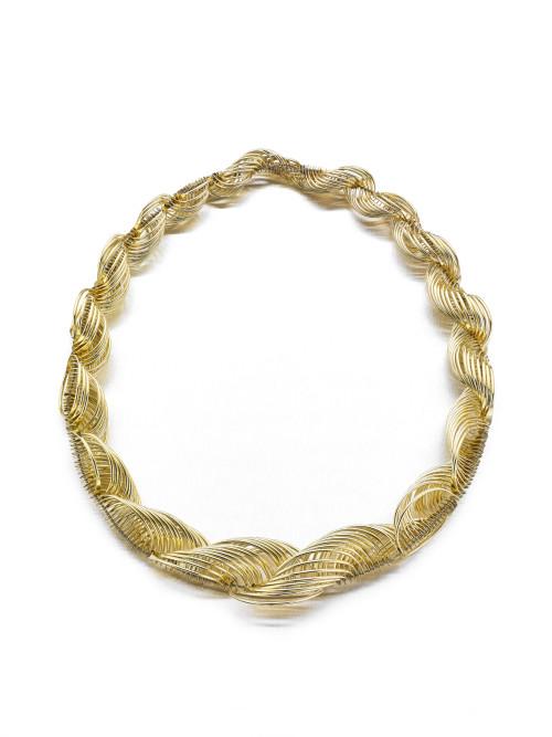 Gold Graduated Curve Neckpiece