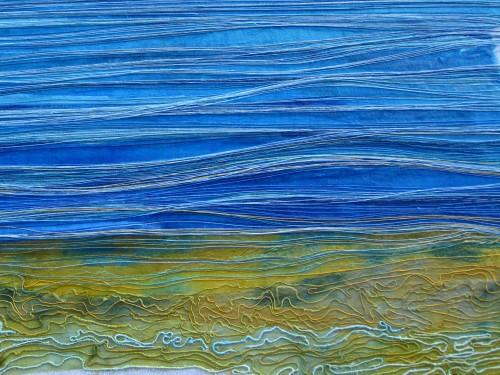 Firth (Dye painted sari silk and thread)