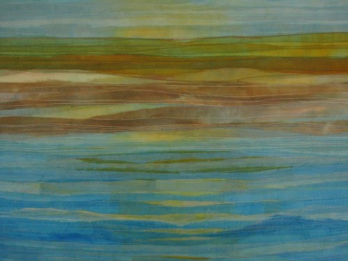 Sands (Dye painted sari silk and thread)