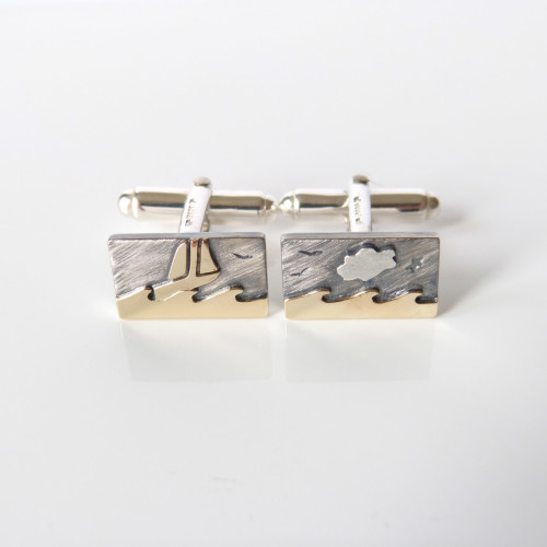 Seascape Cufflinks - Onspired by a poem