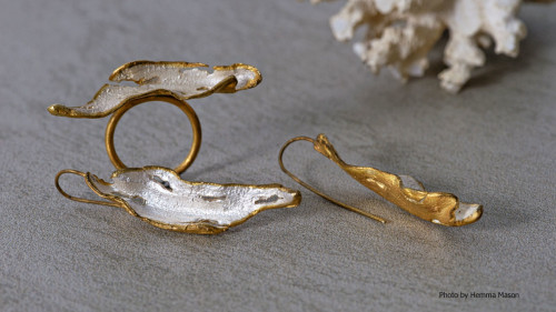 Fire & Earth Ring and Earrings