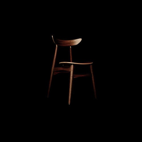 Jodie chair, 3D printed bronzed steel joints