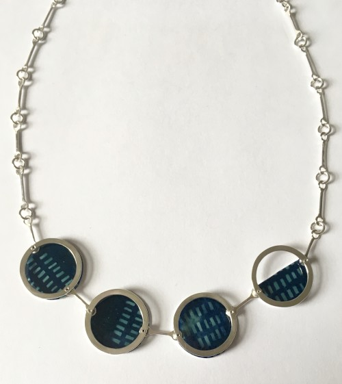 Green and Navy Layer Necklace
