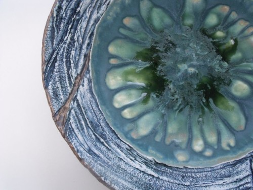 Blue and Gold Coastal bowl - Stoneware   2018