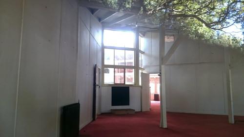 Inside- outside QM. Hospital, Hamner Springs NZ