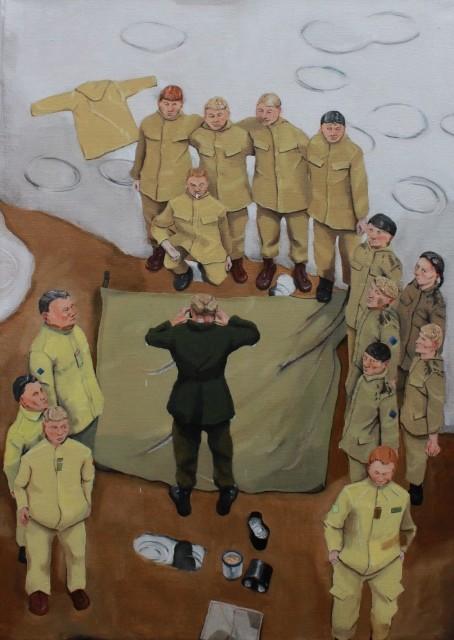 'Break in Rain', oil on canvas 51cm x 71 cm
