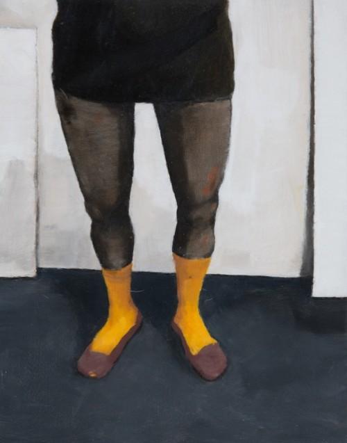 'Socks', oil on board, 28cm x 36 cm