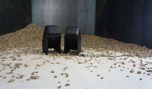 Instal 1 Quarry, Collected gravel from quarry and sound