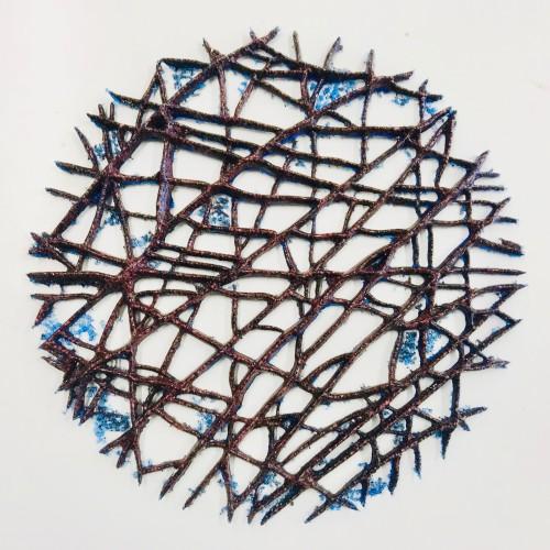Rust Drawing, Opal Blue