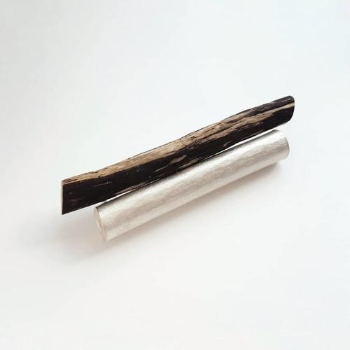 Lorg brooch, silver, driftwood