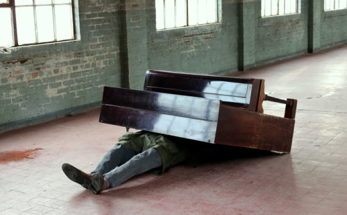 Untitled (Piano on person)
