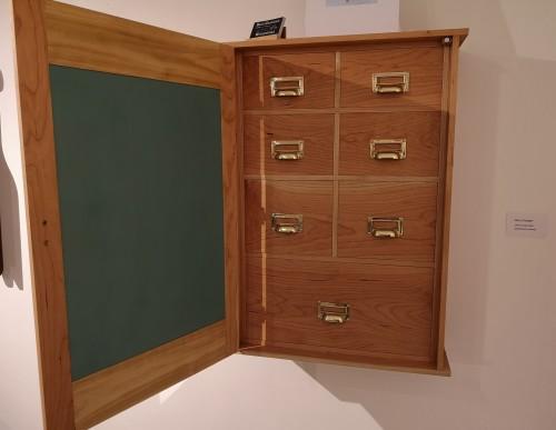 cherry and cedar apothecary cabinet interior
