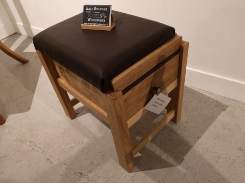 oak footstool
