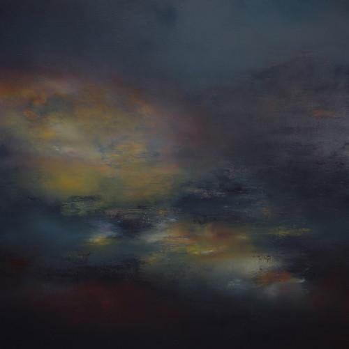 Ruin, oil on canvas, 90x90cm
