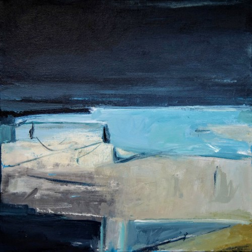 Sea locked cove of ochre sand  (commissioned paintings)