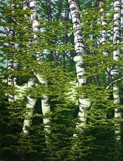 Green Birches