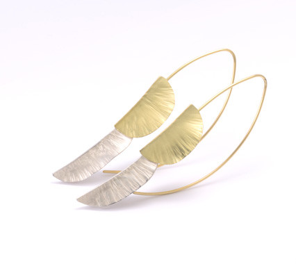 Sterling silver & 18ct gold earrings