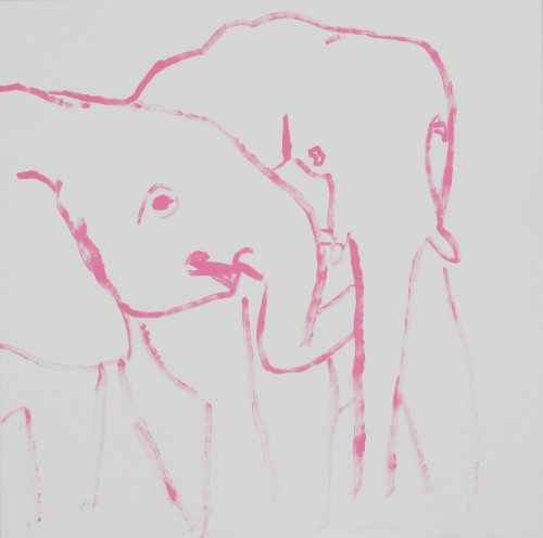 Elephants Touching
