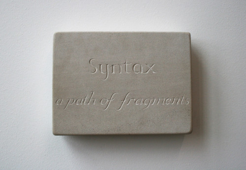 Syntax (Stone-carving)