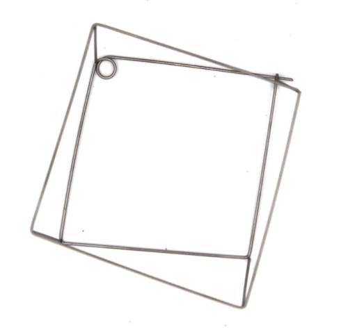 Wonky frame brooch, steel