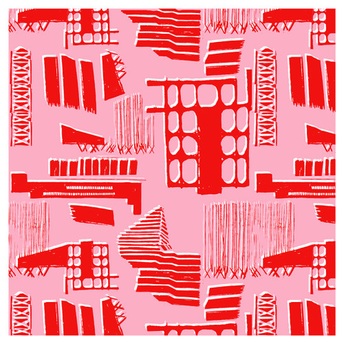 NY Skyscraper Tile in Red
