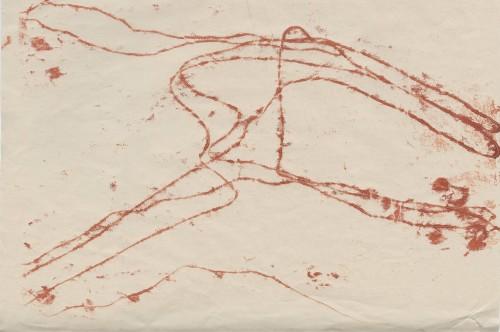 Untitled (Lochnagar print II), monoprint on newsprint, 30x21cm