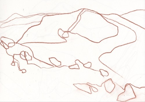 Lochnagar sketch, pencil on paper, 30x21cm