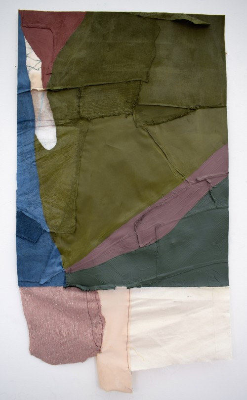 Untitled (Hanging series III), Oil paint and oil pastel on mixed materials, 45x65 cm