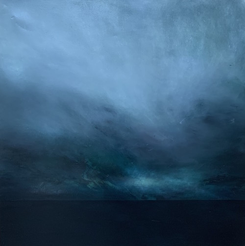 Glen, oil on canvas, 100x100cm