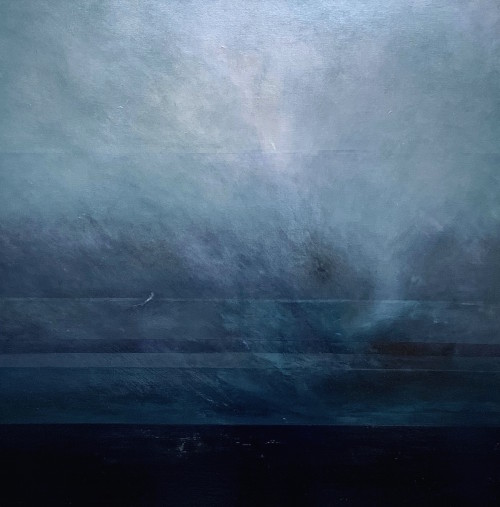 Gully, oil on canvas, 100x100cm