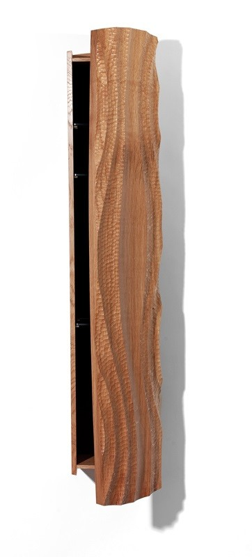 'Spo' drinks cabinet with hand-carved front