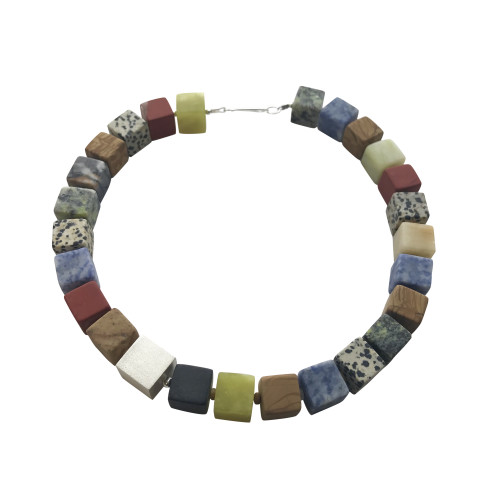 Large cube necklace