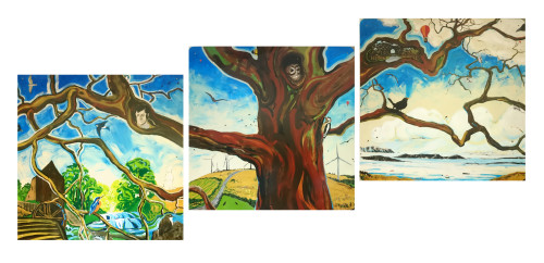 The Nature of Dalry, east platform, 4x12ft