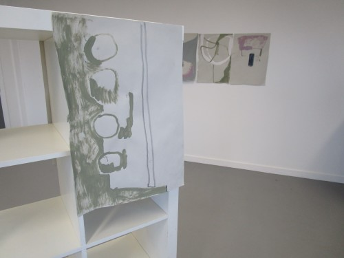 Installation of Untitled (Interior Paint), series of 9