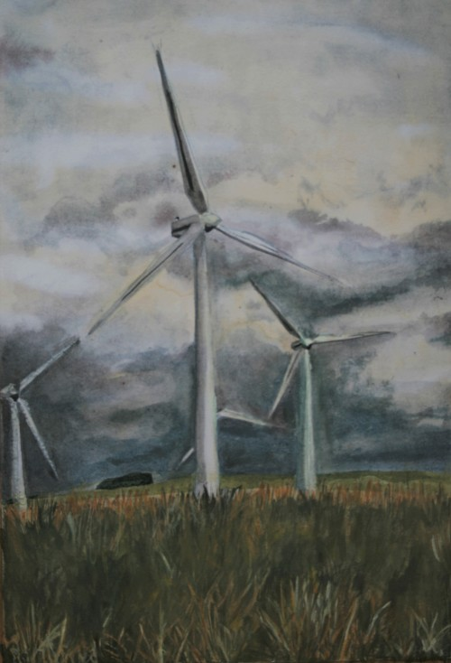 Wind Turbines above Soutra