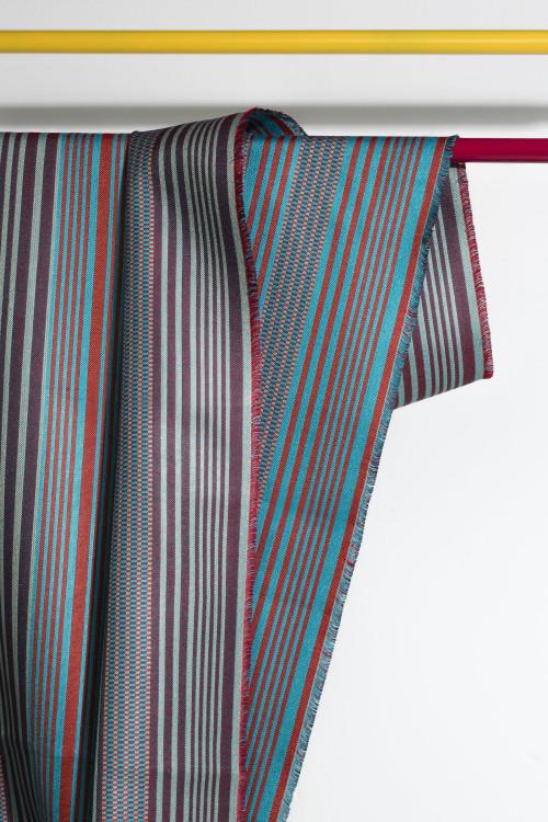 Striped Facade in Vermillion