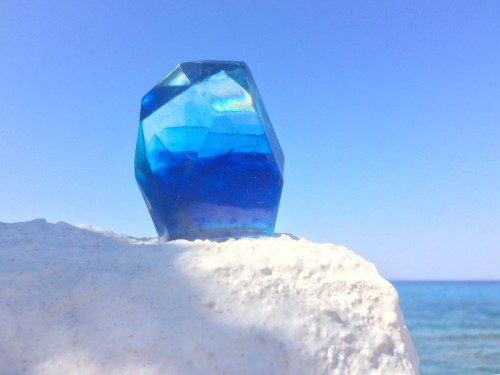Monolith in Ikaria Island, Greece. August 2020