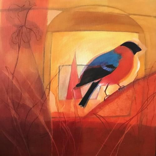 Caged Bird  40x40cms
