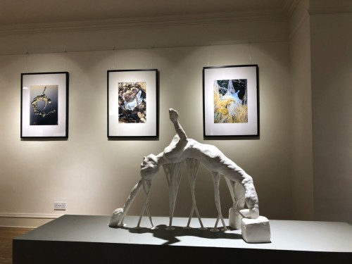 Sculpture and photographic prints of the piece