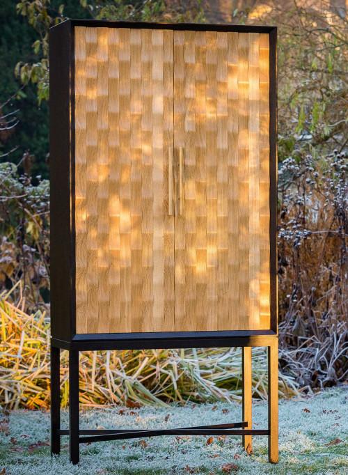 The Phoenix Cabinet - Oak and ebonized oak