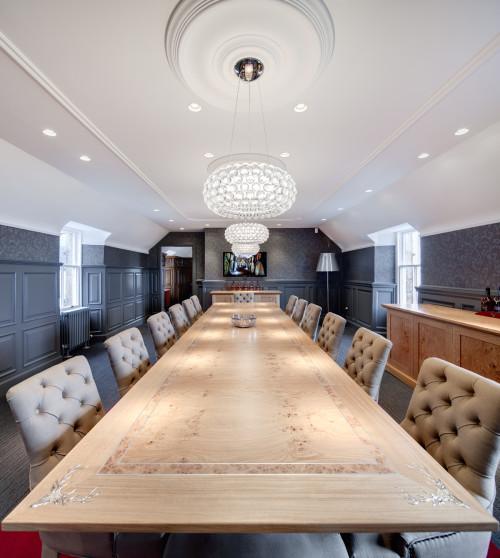 Dalmore Boardroom table - Pippy oak